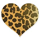 Cheetah Animal Print Heart car bumper sticker 4 x 4
