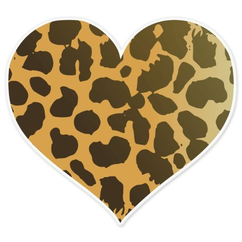 Colorful animal print hearts - photo#22