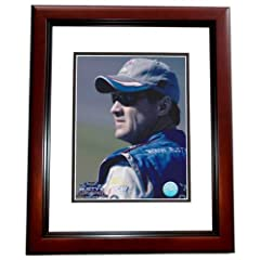 Rusty Wallace Unsigned 8x10 inch Racing Photo MAHOGANY CUSTOM FRAME by Real Deal Memorabilia