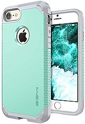 iPhone 7 case, SGM Premium Hybrid [Dual Layer] Armor Case Cover For Apple iPhone 7 [Anti-Slip Design] [Shock Proof] (Mint + Gray)
