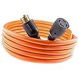 Nema L14-30 40 feet Generator Power Cord 4 Wire 10 Gauge 125/250v 30 Amp 7500 watts