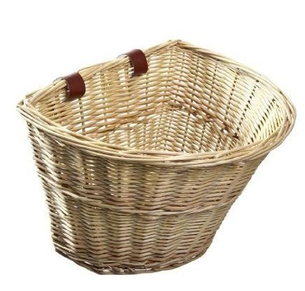 Wicker Front Handlebar Bike Basket front-508555
