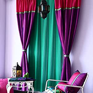 Amazon.com - FADFAY Home Textile Purple Curtains For
