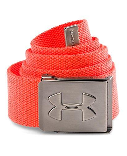 Under Armour Men's Webbing Belt, Bolt Orange/Graphite, One Size