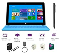 "Microsoft Surface Pro 2 Core i5-4200U 4G 64GB 10.6"" touch screen 1920x1080 Full HD Wacom Pen Windows 8 Pro Multi-position Kickstand(Without Dock,Cyan Type Cover,4Gb 64GB) from Microsoft"