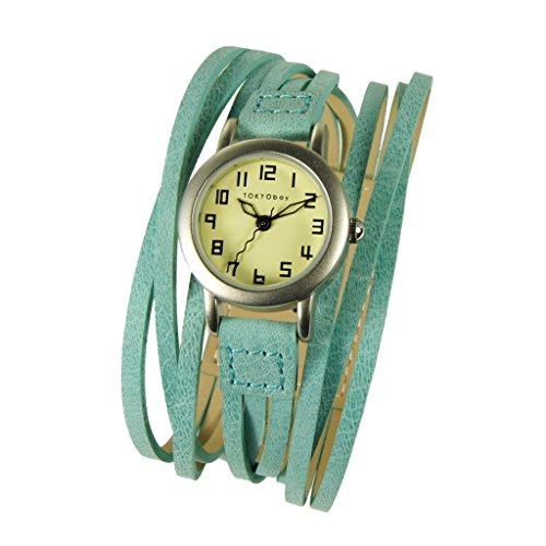 tokyobay-femme-gaucho-brights-multi-stret-wrap-bet-montre-cuir-in-turquoise