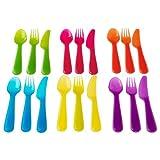 NewBorn, Baby, IKEA - KALAS Children Colorful 18 Piece Cutlery Set New Born, Child, Kid