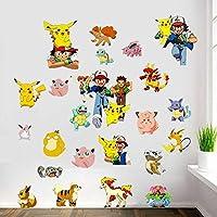 2016 Pokemon Popular Pikachu and Ash Decal Removable Wall Sticker 45*60cm Home Decor Art Kids/Children/Nursery Loving Home Decoration Gift For Children