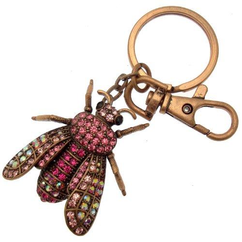 acosta-estilo-de-la-vendimia-de-color-rosa-de-cristal-de-swarovski-insecto-volador-encanto-del-bolso