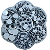 Decora 700 Pieces Mixed Wiggle Eyes with Self-adhesive DIY Scrapbooking Crafts Toy Accessories
