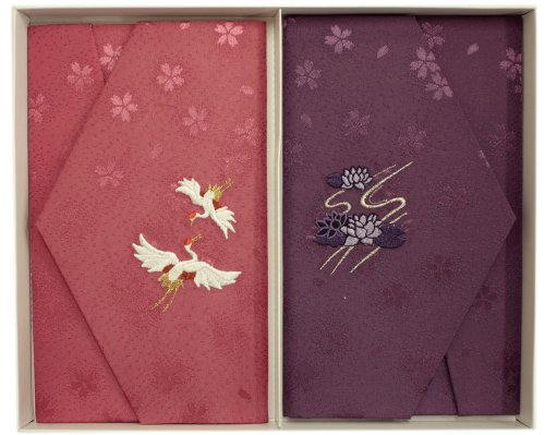 Ester cherry Rinzu gold seal silk wrapper family events set P62-758