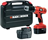 Black & Decker EPC148BK 14.4V NiCd Cordless Hammer Drill (2 Batteries and Kitbox)