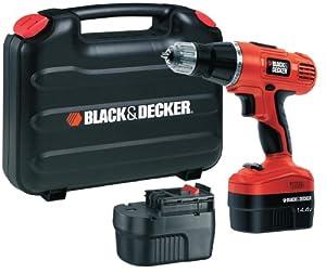 Black & Decker EPC148BK 14.4V NiCd Cordless Hammer Drill (2 Batteries and Kitbox)