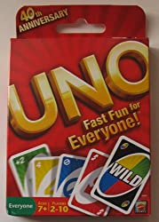 Uno Card Game 40th Anniversary