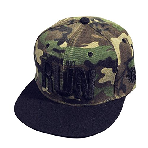 Amlaiworld Hiphop cappello,Moda ricamo Snapback Boy Hiphop cappello regolabile Baseball Cap Unisex