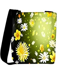 Snoogg Floral Petals Designer Womens Carry Around Cross Body Tote Handbag Sling Bags - B01I1IQUZQ
