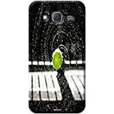 Tecozo Designer Printed Back Cover For Samsung Galaxy J7, Samsung Galaxy J7 Back Cover, Hard Case For Samsung Galaxy J7, Case Cover For Samsung Galaxy J7, (Tennis Ball In Rain Design,Sports)