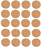 Sivitec Cork Pads Self-Adhesive Round 19mm (Pack of 20)