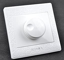 500W 220V Governor Switch White Embossed Stepless Fan Speed Controller Fashional