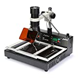 ITEMPLAZZA T870A Rework Station Ir-Lamp Technology Infrared SMT SMD Safe Durable Use Eye Protection Micro BGA Component Ir-Lamp Technology 35-50cm Size Pre-Heating System Fix Pcb Board Soldering Tool
