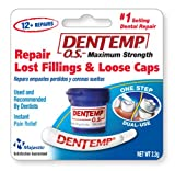 Dentemp O.S. One Step, Caps and Fillings Repair, 8+ Repairs, 2g Blister (Pack of 6)