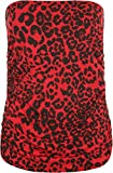 New Plus Womens Animal Print Long Boob Tube Bandeau Ladies Sleeveless Top 16-26