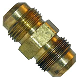 LASCO 17-4211 1/4-Inch Brass Flare Union