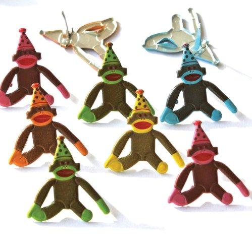 Eyelet Outlet Brads, Birthday Sock Monkey