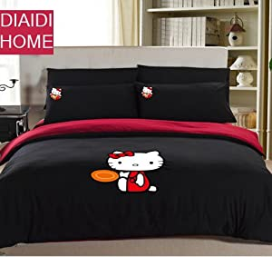 Amazon.com - DIAIDI Home Textile, Cute Hello Kitty Comforter Set ...