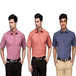 Vicbono Men's Formal Shirt Pack of 3 - 789-M
