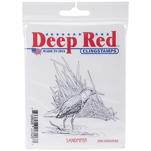 Deep Red Stamps Sandpiper Rubber Stamp - 1