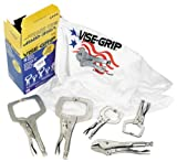 Irwin Industrial Tools 74D Vise-Grip Locking Tool Set with Free T-Shirt, 5-Piece