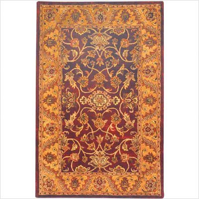Golden Jaipur GJ250C Burgundy / Gold Oriental Rug Size: 5' x 8' Rectangle