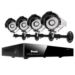 Zmodo 8CH H.264 DVR Security CCTV Surveillance Camera System & 4 Indoor Outdoor Surveillance CCTV Cameras No Hard drive