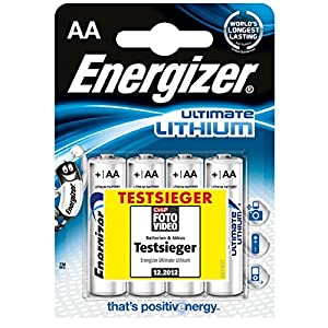 Energizer AA Batteries, 4-Pack