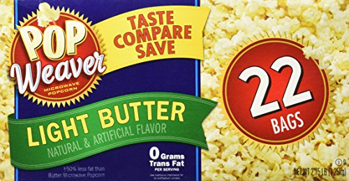 Pop Weaver Microwave Popcorn Light Butter (Light Butter Popcorn compare prices)