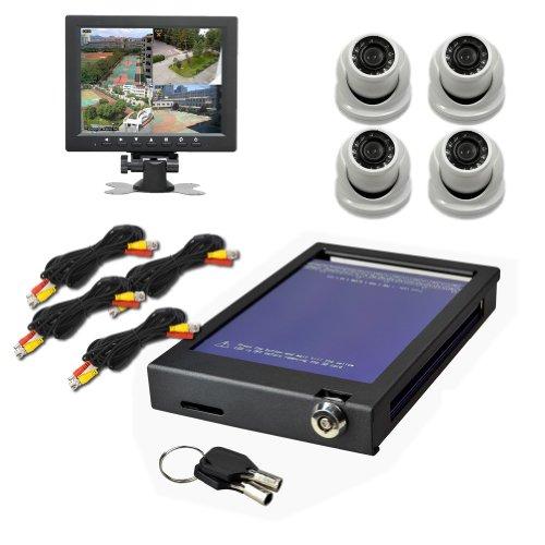 Elp 4Ch Cctv Car Safety Complete Kit For Car Mobile Dvr Security System