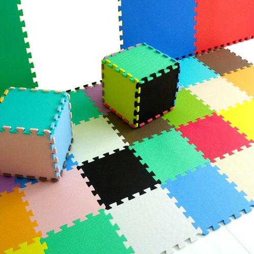 Pure Colour Spielmatten für Kinder Weiche Puzzle Mats EVA-Schaum-Matten Bodenbelag Mats (20tlg, Mischen - Mixed)