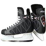 Patins de hockey sur glace en cuir synthétique - Noir - PLUSIEURS TAILLES AU CHOIX