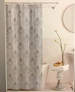 Gray Grey Gatsby Paisley Shower Curtain