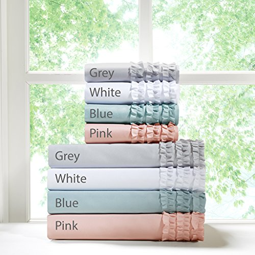 Intelligent Design Ruffled Sheet Set White Twin (Shabby Chic Sheets compare prices)
