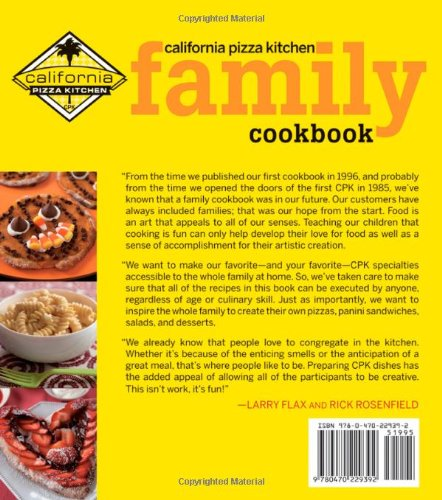California Pizza Kitchen Family Cookbook From Houghton