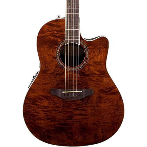 Ovation Cs24P-Nbm Acoustic-Electric Guitar Nutmeg, Burled Maple