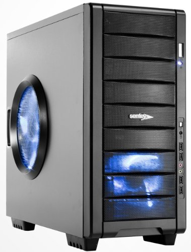 Sentey® Gaming Case Centinela / 1Mm Secc / Atx Mid Tower / 4 X Usb 2.0 / 1X140Mm Blue Led Front Fan+1X230Mm Blue Led Side Fan + 1X120Mm Blue Led Fan Top + 1X120Mm Black Rear Fan / Mesh Front Panel / Watercooling Support / Dust Filters / Hdd Drive Tray / 9