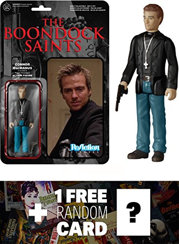 Connor MacManus: Funko ReAction x The Boondock Saints Action Figure + 1 FREE Classic Movie Trading Card Bundle (051877)