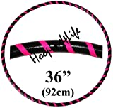 Hooping4Life (NI) Black and Fluorescent Pink Small (36