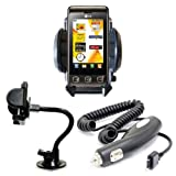 Xylo Car Kit: Windscreen Suction Mount Holder and In Car Charger for the LG KP500 COOKIE