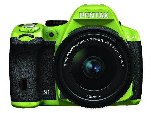 RICOH デジタル一眼レフ PENTAX K-50 DAL18-55mmWRレンズキット グリーン/ブラック 034 K-50 L18-55WR KIT GREEN/BLACK 034 11188
