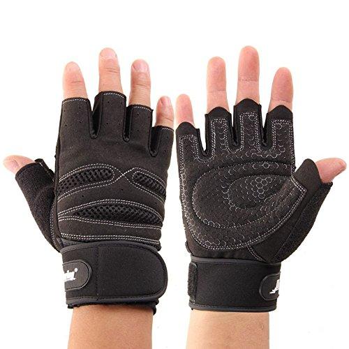 Soomloom パフォーマンス トレーニング グローブバーベル ダンベル 筋トレ 練習 アスリート 手袋 (ブラック, M)