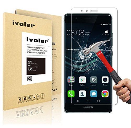 Huawei P9 Lite Pellicola Protettiva, iVoler® Pellicola Protettiva in Vetro Temperato per Huawei P9 Lite - Vetro con Durezza 9H, Spessore di 0,2 mm,Bordi Arrotondati da 2,5D-Shockproof, Trasparenza ad alta definizione, Facile da installare- Garanzia a vita